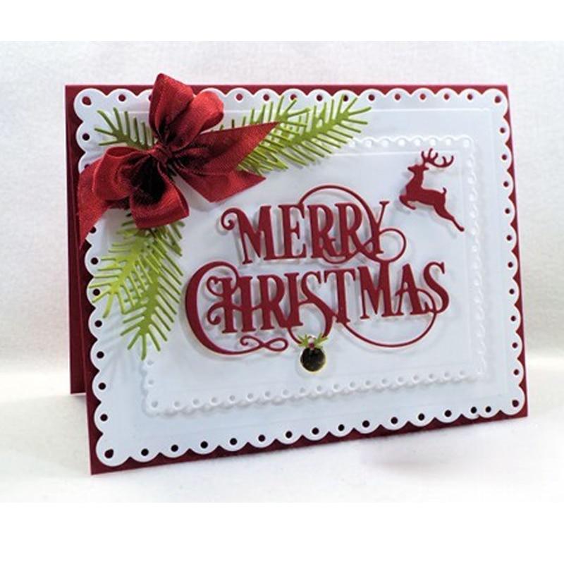 Merry Christmas Reindeer Metal Cutting Dies Stencils DIY Scrapbooking Album  Paper Cards Craft Embossing Word Dies