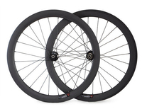 700C chinese cheap price chinese oem sticker carbon cyclocross bicycle wheelset 50mm disc bike wheels 24/28/32holes for sale