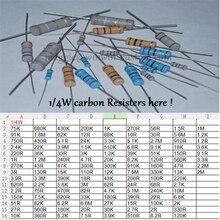 Бесплатная Доставка 1000 шт. 680R 1/4 Вт DIP Резисторы углерода Сопротивления 1/4 Вт 680ohm 5% Углерода Резистор другое значение пожалуйста, проверьте страницу