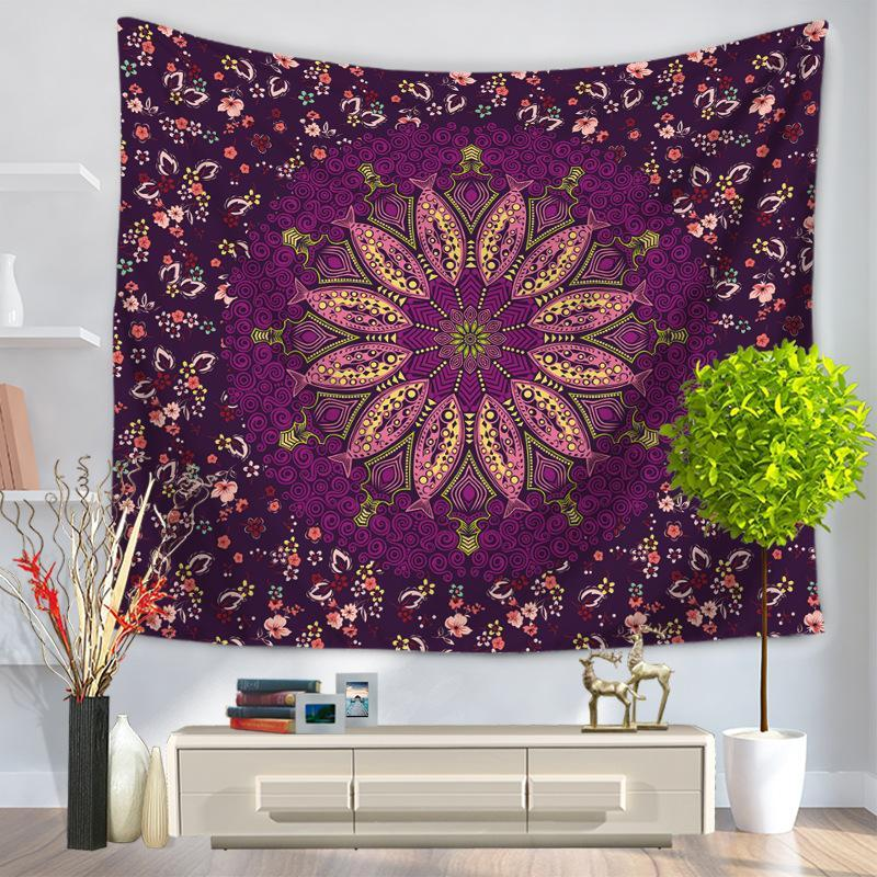 Flor/ciudad impresa decoración del hogar tapiz de pared tapices de playa Toalla de Picnic manta alfombra