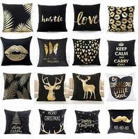 HOT Sofa Super Soft Pillow Christmas Pineapple Pattern Love Letters Bronzing Silver White Black Modern Pillow Cushion