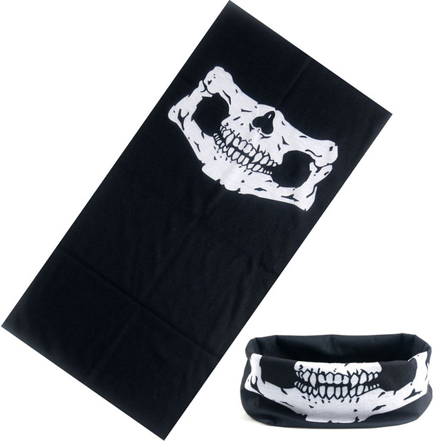 2017 New Skull Bandana Hiphop Hijab Headband Scarf Multi Functional Seamless Tubular Magic Face Mask Tube Ring unisex Scarf