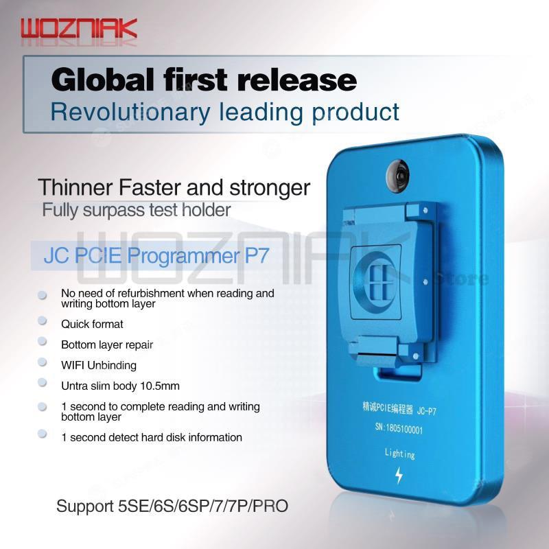 JC Pro1000S JC P7 PCIE NAND programmeur 32/64 bits HDD SN outil d'écriture de lecture pour iPhone 7 7 P 6 6 S 6 P 6SP 5 4 tous réparation iPad
