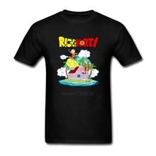 Rick and Morty Holidays Man t shirt 2017 Summer Printed Anime T-shirts Men's Cartoon Funny O Neck Short Sleeve tee shirt homme