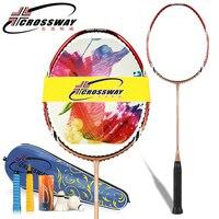 racquet badminton new top seller 4U badminton racket ultra light carbon badminton racket with badminton bag