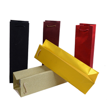 wedding decoration 12pcs/lot Gift Glitter wine Bags paper bag Colorful Top Package Bag wholesale