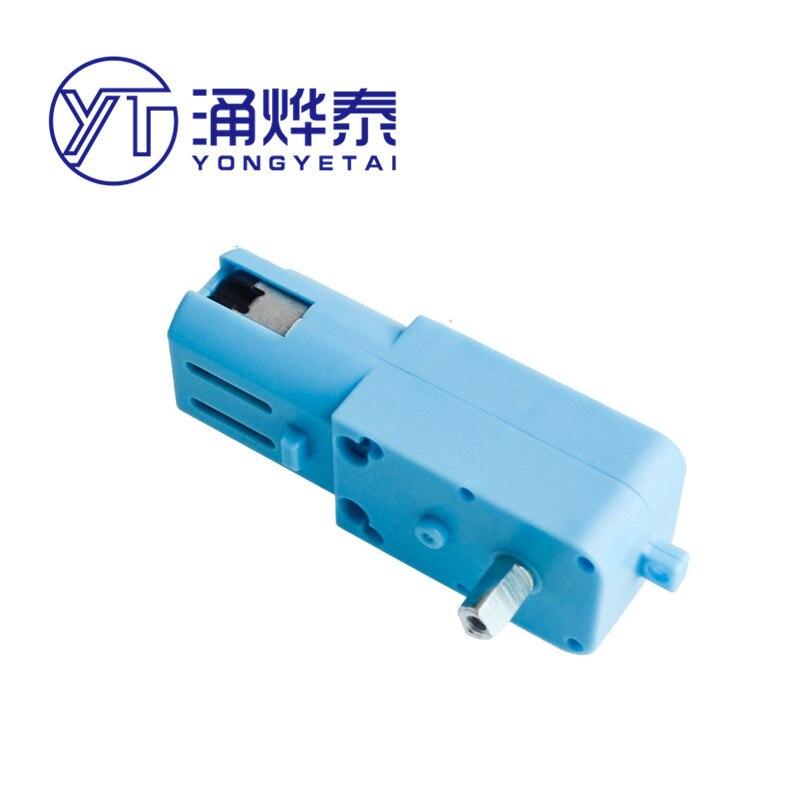 YYT Metal gear robot smart car gear motor TT motore ad asse singolo prodotto finito 1:90 blu