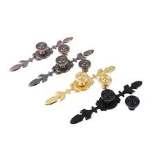 1Pc Zinc Alloy Furniture Handles European Pulls Knobs For Door Cupboard Wardrobe Drawer Bronze / Red Bronze / Gold / Black