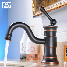 Modern Washbasin Design Oil Rubbed Bronze Bathroom Faucet Mixer Hot and Cold Black Water Taps for Basin of Bathroom black bathroom sink washbasin bath set faucet mixer taps square gold tempered glass oil rubbed bronze bathroom basin tap set