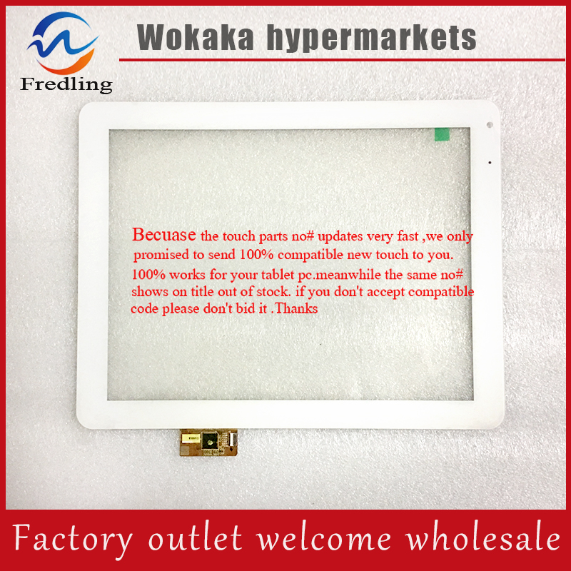 Free shipping 9.7inch Tablet PC Touch Glass panel Touch Screen Digitizer replacement 100006-01A-1-V2