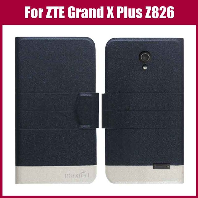 Hot! ZTE Grand X Plus Z826 Case,New Arrival 5 Colors High Quality Leather Exclusive Case For ZTE Grand X Plus Z826 Cover