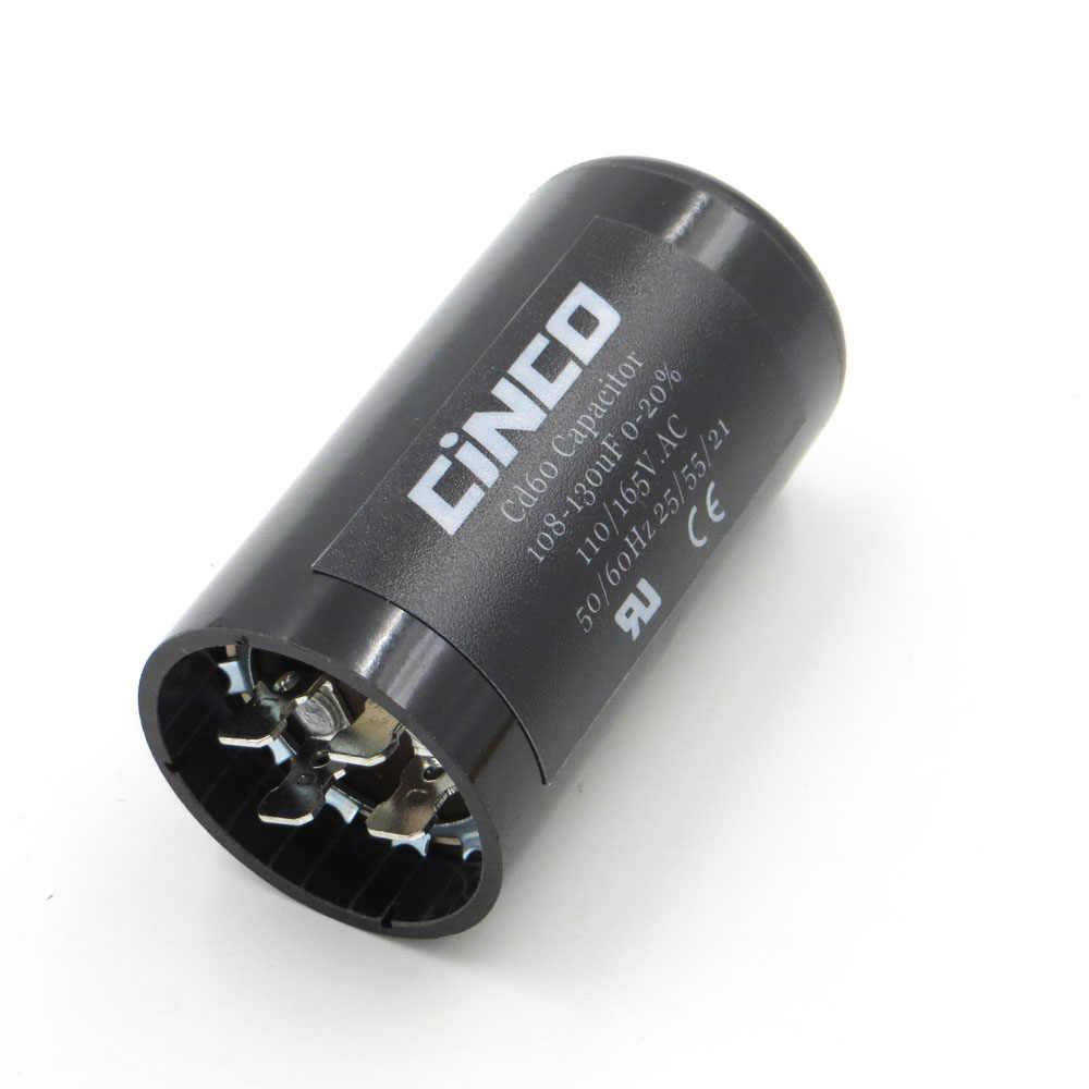 CD60 モータ起動コンデンサ 108-130 uF 110V 125V 165V 108-130 mfd uf コンプレッサー HVAC 電解 110VAC 125VAC