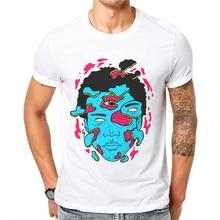 New Male T Shirt Short Sleeve Men Funny Tops Fashion Tee Shirts Zombie Alien Skull Printed Cotton Mens Tshirts Camisetas Hombre все цены