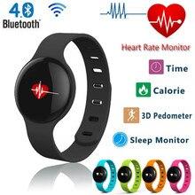 H18 Bluetooth smart Сердечного ритма Спорт фитнес трекер браслет с монитор сна шагомер для Android IOS смартфонов