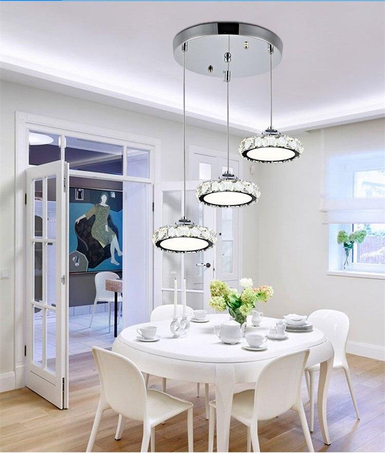 Lustre de cristal moderno lâmpada led lustre