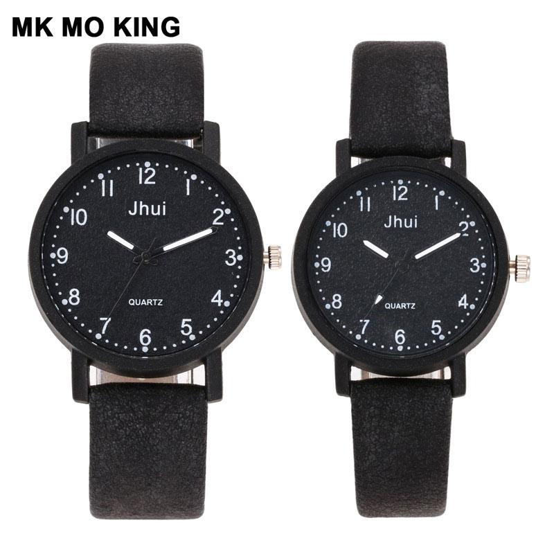 Men's Simple Digital Scale Retro Stone Pattern Belt Couple Watch Women's Quartz Clock Bracelet Fashion Ladies Wrist Watch Gift