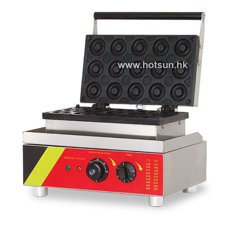 Free Shipping Commercial Non-stick 110V 220V Electric 15pcs Donut Doughnut Baker Maker Iron Machine 110v 220v automatic donut making machines with 3 mold free shipping