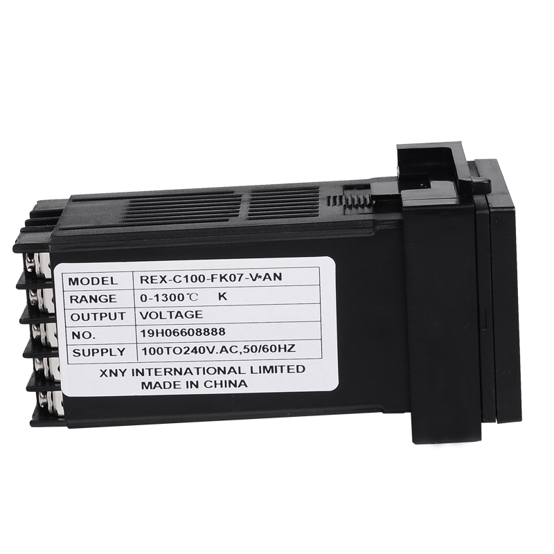 Set di controller regolatore termostato digitale PID REX-C100 con - Strumenti di misura - Fotografia 3