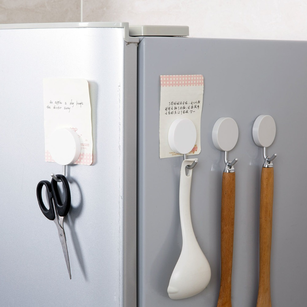 OTHERHOUSE Magnetic Hooks Power Magnet Hanger Holder Refrigerator Surfaces Not Scratch Kitchen Organizer
