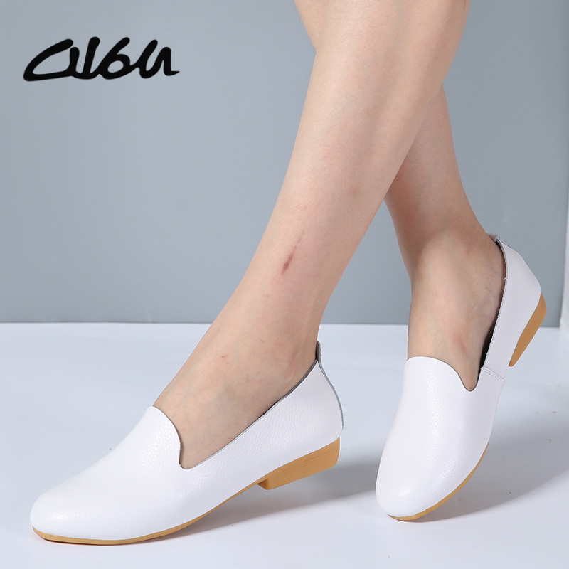 O16U 2017 Autumn women oxford shoes ballerina flats shoes women leather shoes moccasins Lady ballet loafers white Shallow shoesO16U 2017 Autumn women oxford shoes ballerina flats shoes women leather shoes moccasins Lady ballet loafers white Shallow shoes