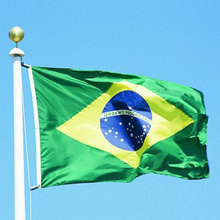 Brazil Flag Banner 90*150cm National flag for Festival the world cup Home Decoration flag banner Free shipping(China)
