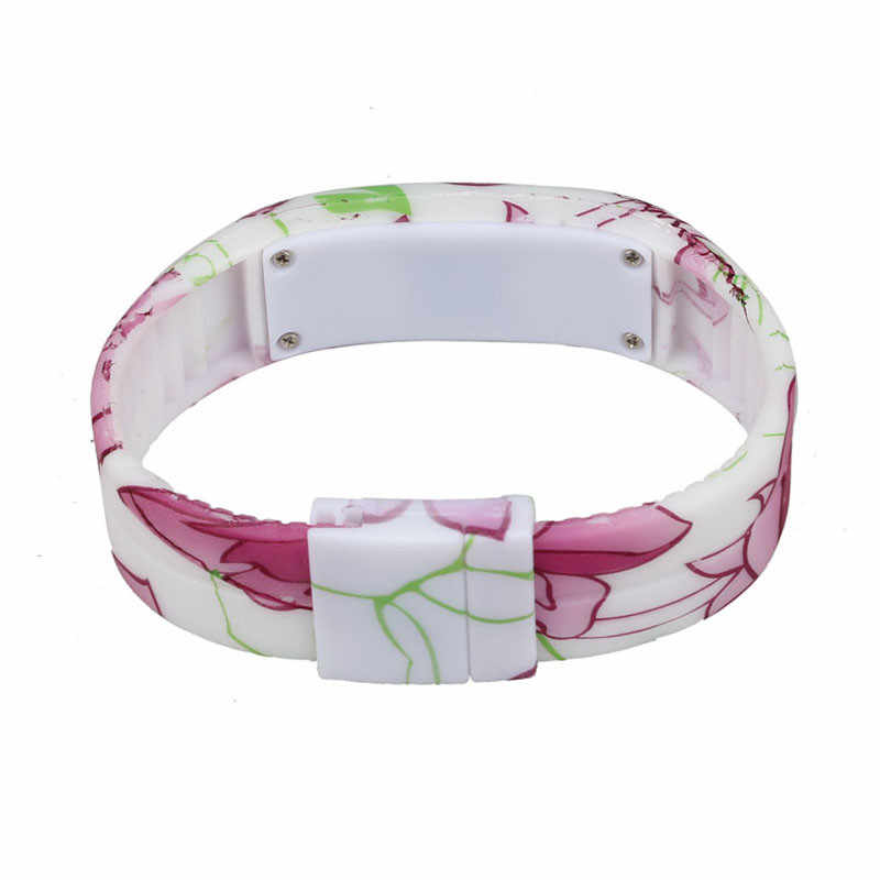 Reloj Digital deportivo para mujeres y niñas reloj de pulsera con LED con tiras estampadas reloj de pulsera para damas relojes mujer orologo donna