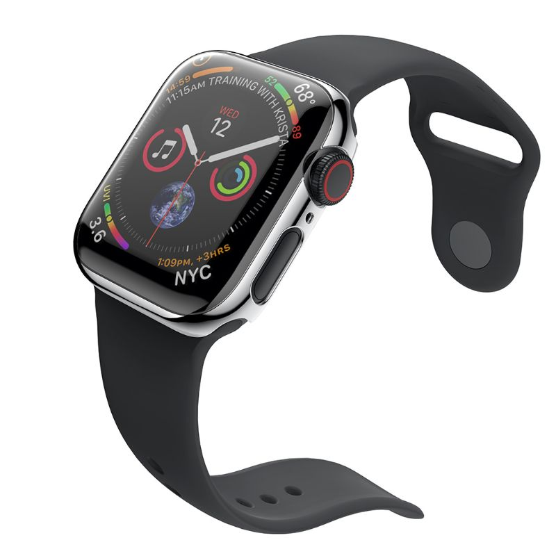 the latest 8ff9f 041df US $1.29 17% OFF|Protective Case Bumper Cover Frame PC Shell Shockproof  Smart Watch Accessories for Apple iPhone 4 44mm 42mm-in Smart Accessories  from ...