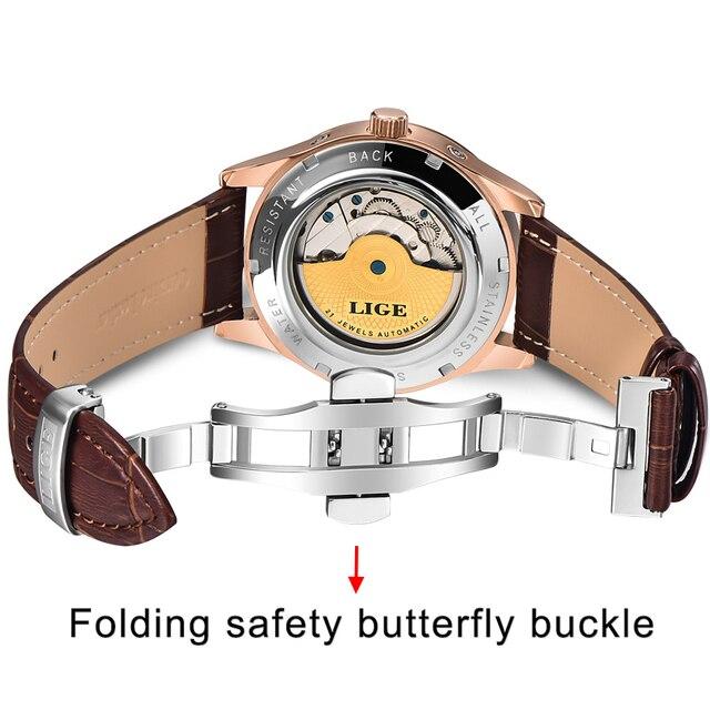 Classic Men's Retro Watches Genuine Leather Waterproof  4