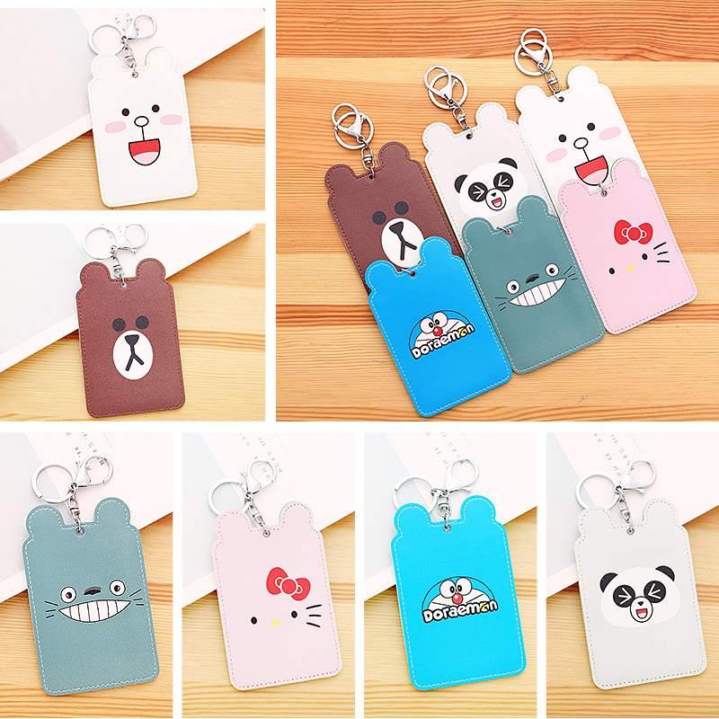 High Quality Cute Keychain Lanyard Credit Card Holders For Ladies Card With Rope PU Leather ID Cards Holder Neck Strap Card BusHigh Quality Cute Keychain Lanyard Credit Card Holders For Ladies Card With Rope PU Leather ID Cards Holder Neck Strap Card Bus