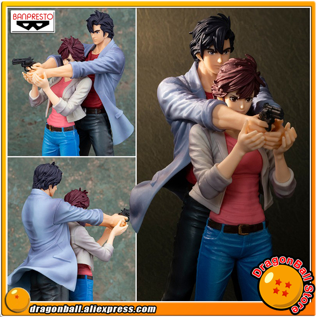 Us 56 66 27 Off Japan Anime Movie City Hunter Original Banpresto Creator X Creator Collection Figure Ryo Saeba Kaori Makimura In Action Toy