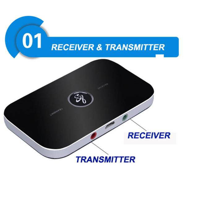 Hifi portátil 2 Em 1 BT 4.0 3.5mm Transmissor Receptor de Música Estéreo Sem Fio Bluetooth Adaptador de Áudio Player