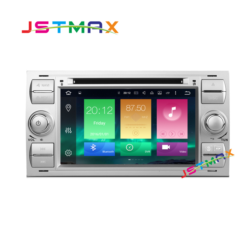 Android 6.0 Octa Cores 2GB RAM Car DVD Player For Ford/Mondeo/Old Focus/Transit/C-MAX 2 Din 7 Inch 32G ROM DAB Wifi GPS Radio