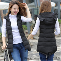 2016 Korean Version Of The Slim Was Thin And Long Sections Down Cotton Vest Female Autumn