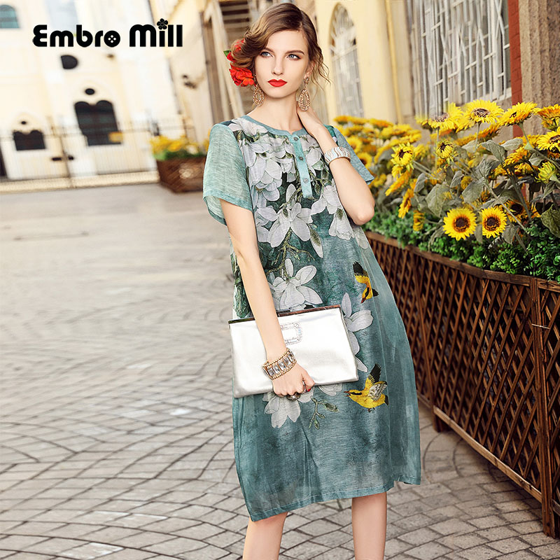 dress party evening elegant European fashion runway luxury brand clothing elegant print