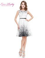 Ever Pretty 2016 Nwe Summer Short Homecoming Dresses HE05446WB White Sweetheart Polka Dot Sexy Party Homecoming