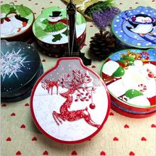 Bell 3D christmas cookies candy packing boxes coin jewelry storage cans sealed jar earrings headphones tin box