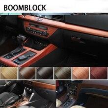 30*100 см ПВХ Водонепроницаемый древесины текстурированные салона декоративная виниловая пленка наклейки для VW Polo Passat B6 Renault Chevrolet