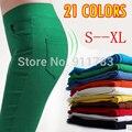 CHRLEISURE S-XL 5 Cores Calças Lápis Cor Da Moda Doces das Mulheres Lápis Calças Skinny Com 4 Bolsos Calças Fit Senhora