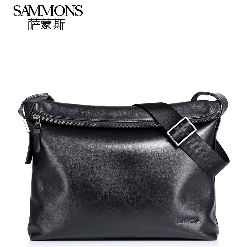 Sammons Brand Men Shoulder Messenger Bag High Quality Genuine Leather Luxury Crossbody Bags Fashion Business Satchels