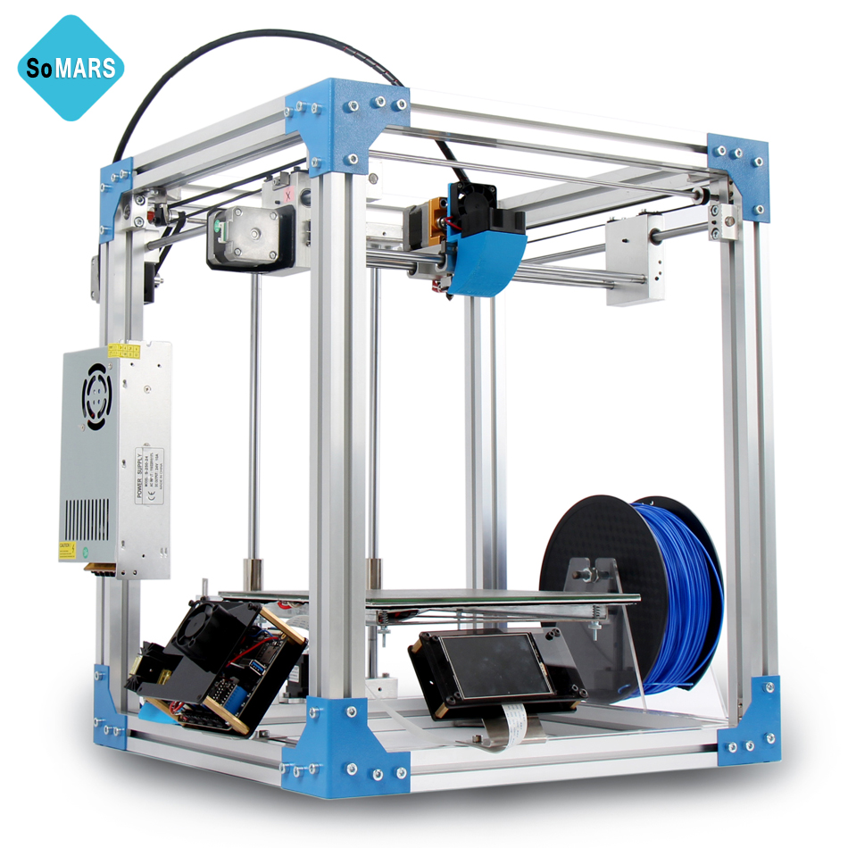 SoMARS X3 2017 New 3 D Printer Metal Frame DIY Kit Printers 3d Auto Leveling Touch