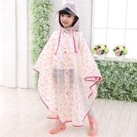 Lmpermeable Dots Children Raincoat Plastic Transparent EVA Rain Coat Waterproof Kids Rainwear Rain Gear Poncho