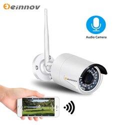 Einnov 2MP Camara de Segurança Em Casa Câmera IP Sem Fio 1080P Wi-fi Ao Ar Livre De Vigilância Por Vídeo IP Wi fi P2P Sistema de Áudio onvif HD