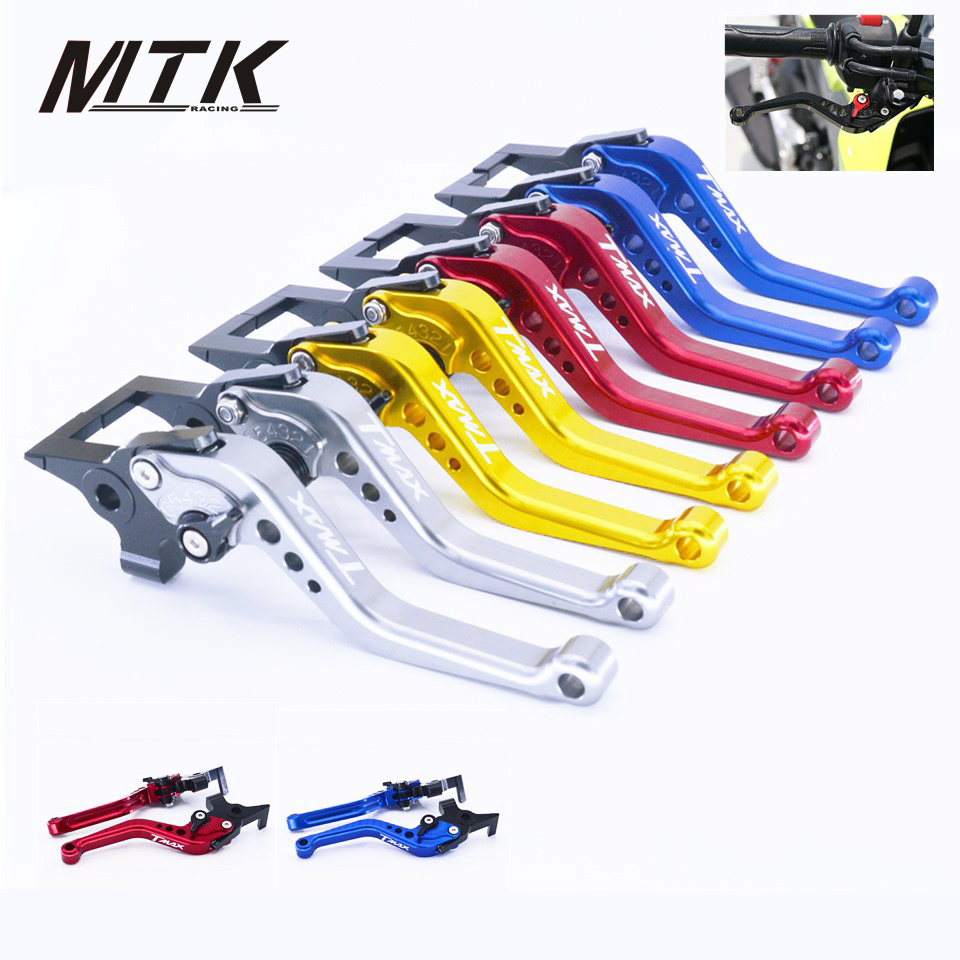 MTKRACING short Clutch Brake Levers For YAMAHA TMAX 530 2012-2017 CNC Short 14.5cm CNC Aluminum