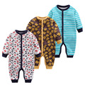 2017 New Spring Baby Plus Velvet Romper with Full Sleeve Newbron Baby Boys Girls Cotton Jumpsuits Infant Baby Outside Clothing