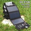 FOXSUR 5V 21W панель солнечного зарядного устройства 5V 3.5A макс. двойной USB порт солнечная панель для iPhone 6s 6 Plus  Android  Samsung  HTC и многое другое