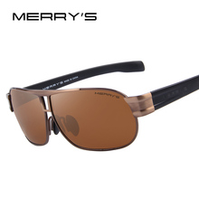 MERRY'S Men Classic Brand Sunglasses Luxury Aluminum Polarized Sunglasses EMI Defending Coating Lens Male Driving Shades S'8506