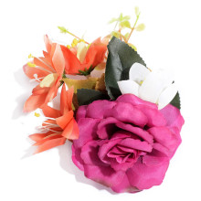 Фотография Romantic Simulation Artificial Cloth Flower Brooches Wedding Jewelry Accessories DIY Collage Rose Hat Wreathe Brooch Pins