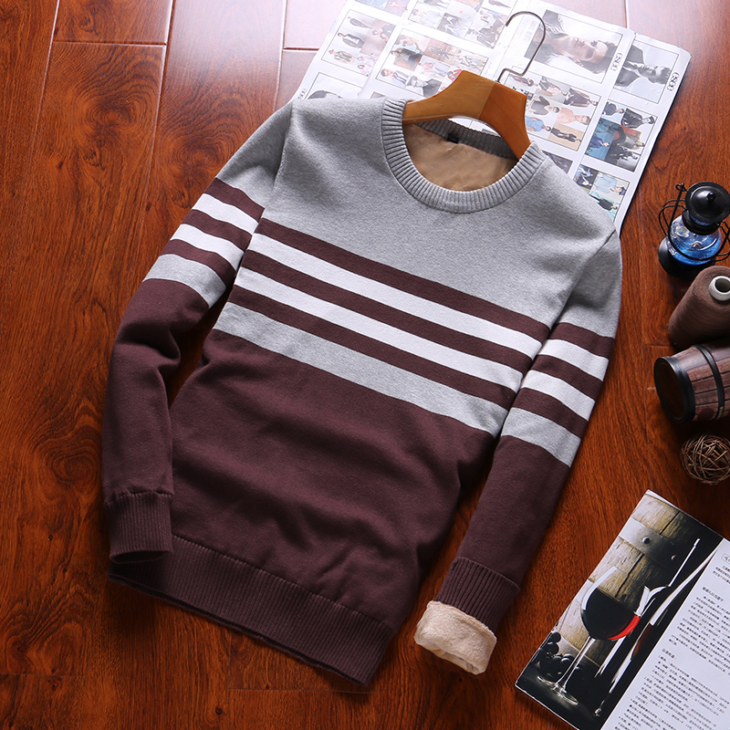 Pullovers Sweaters Men 2019 O-Neck  Thick  Men's Sweater 100% Cotton  Warm Sweater For Masculino Winter Newest Casual  Mens