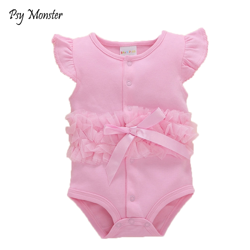 2018 Summer Baby Girl Rompers Gift cotton Jumpsuit Floral Clothing Princess Toddler Romper Newborn Baby photography Clothes G94
