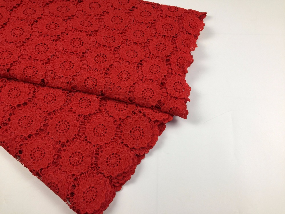 MAIGALAN Nigerian laces Fabric 2017 African Cord Laces Fabrics High Quality Guipure Cord Lace Fabric For